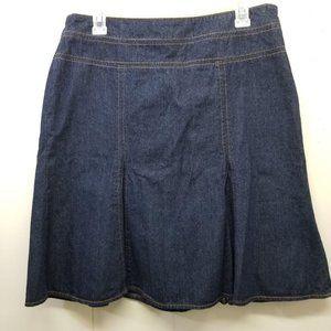 Chaps 10P Blue Jean Denim Skirt Modest Church Home